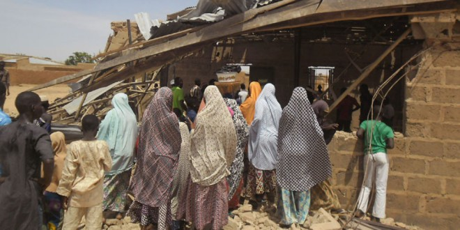 Female suicide bomber kills 5 at northeast Nigeria church