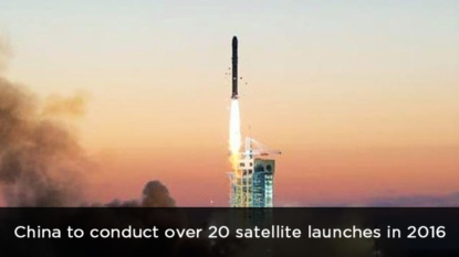 China to conduct over 20 satellite launches in 2016