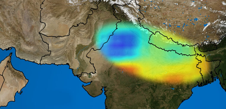 Groundwater depletion in Indo-Gangetic Plain linked to Nepal earthquake