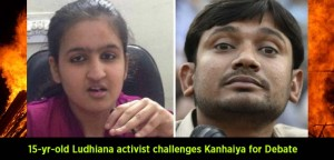 'Don't-abuse-PM-Modi'-15-yr-old-Ludhiana-activist-challenges-Kanhaiya-for-Debate