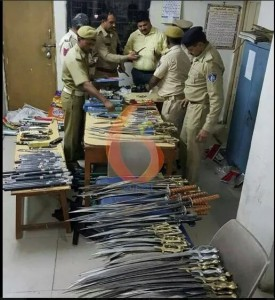 Cache of non-firearm weapons seized from highway hotel in Rajkot, 5 nabbed