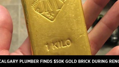 Calgary plumber finds $50K gold brick during reno