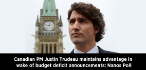 Canadian PM Justin Trudeau maintains advantage in wake of budget deficit announcements Nanos Poll