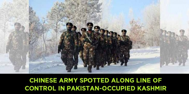 Chinese army spotted along Line of Control in Pakistan-occupied Kashmir