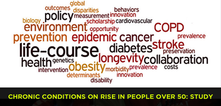 Chronic conditions on rise in people over 50