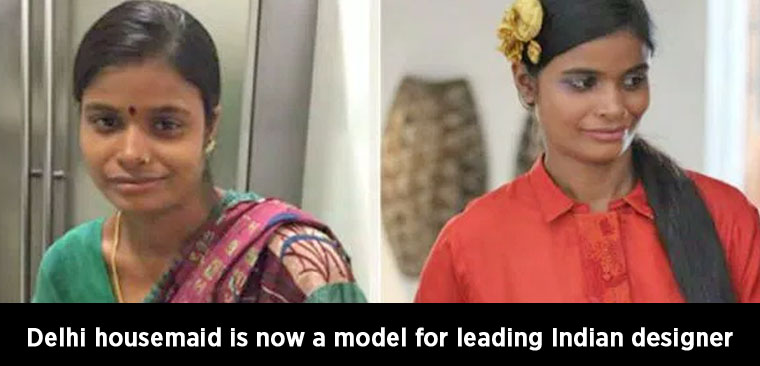 Delhi housemaid is now a model for leading Indian designer