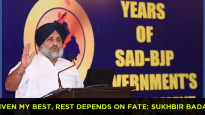 Given my best, rest depends on fate: Sukhbir Badal on govt anniversary