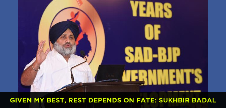 Given my best, rest depends on fate, Sukhbir Badal on govt anniversary
