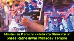 Hindus in Karachi celebrate Shivratri at Shree Ratneshwar Mahadev Temple