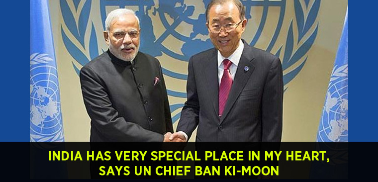 India has very special place in my heart UN Chief Ban Ki-moon