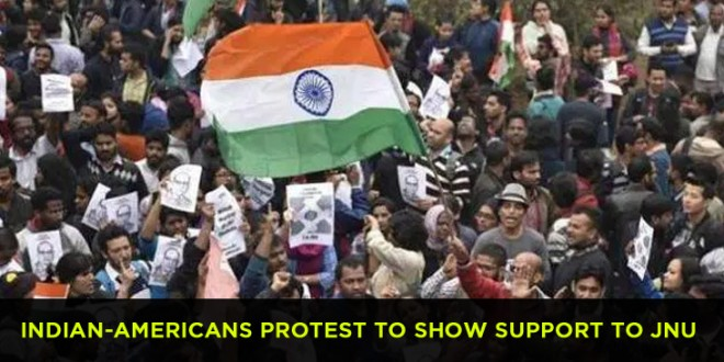 Indian-Americans protest to show support to JNU students