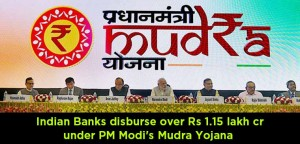 Indian-Banks-disburse-over-Rs-1.15-lakh-cr-under-PM-Modi's-Mudra-Yojana