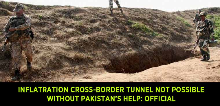 Inflatration-cross-border-tunnel-used-by-terrorists-are-not-possible-without-Pakistan's-help-Official