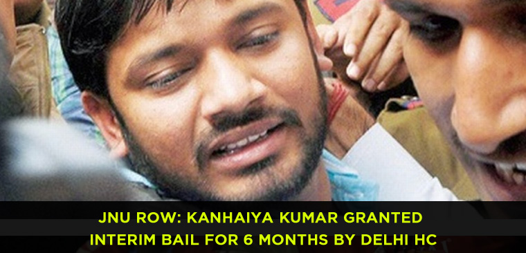JNU Row Kanhaiya Kumar Granted Interim Bail for 6 Months by Delhi HC