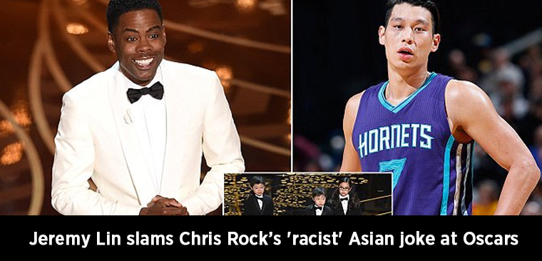 Jeremy Lin slams Chris Rock's 'racist' Asian joke at Oscars