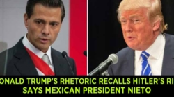 Mexican President Enrique Pena Nieto says Donald Trump's rhetoric recalls Hitler's rise