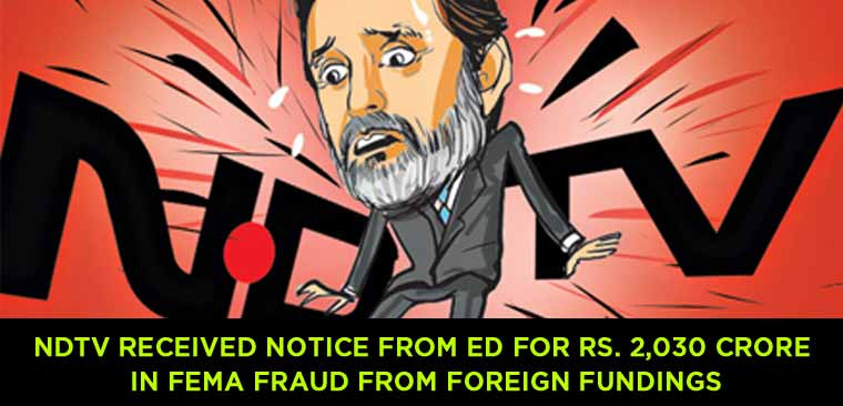 NDTV-received-notice-from-ED-for-Rs.-2,030-crore-in-Fema-fraud
