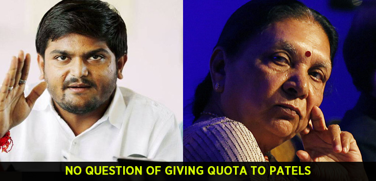 No question of giving quota to Patels, says Gujarat minister Anandiben