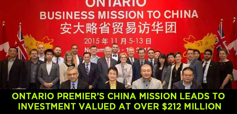 Ontario-Premier-Kathleen-Wynne's-China-Mission-Leads-to-Investment-Valued-at-Over-$212-Million