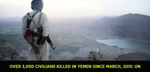 Over 3,000 civilians killed in Yemen since March, 2015