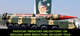 "Pakistan ""breaches obligations' on nuclear arms reduction, UN court told"