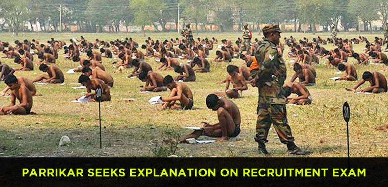 Parrikar seeks explanation on recruitment exam
