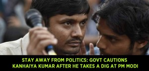 Stay away from politics: Govt cautions Kanhaiya Kumar after he takes a dig at PM Modi