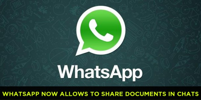 Now Share documents in WhatsApp chats