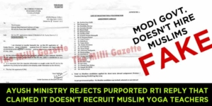 AYUSH Ministry rejects purported RTI reply that claimed it doesn't recruit Muslim Yoga teachers