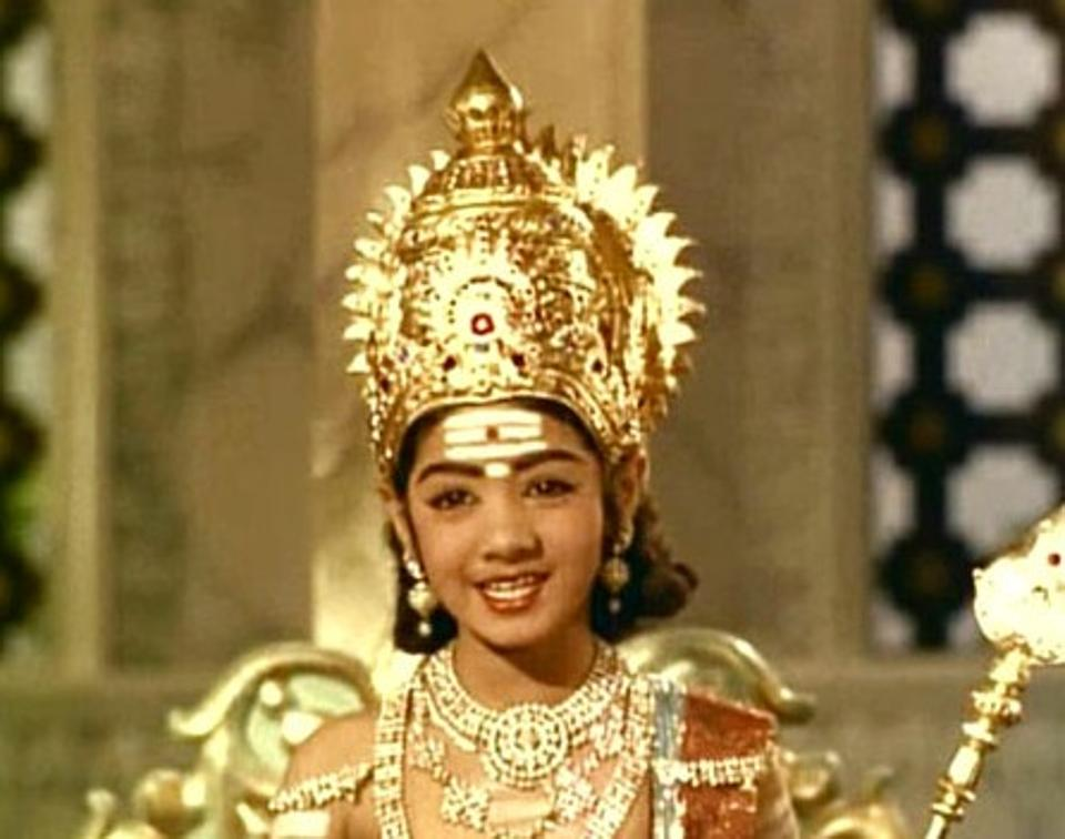 Sridevi as a child actor in Thunaivan.